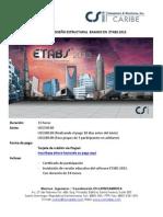 Temario Curso Diseño Estructural  basado en  ETABS 2013