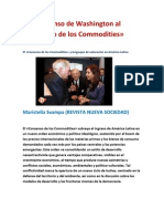 Del Consenso de Washington al Consenso de Commodities- por Maristella Svampa