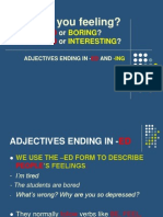 Adjectives Ed or Ing