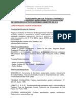 Programa Provas-processo Seletivo 2013-1-1
