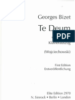 Bizet Te Deum Pc Satb