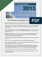 Ten Thousand Commandments - A Fact Sheet