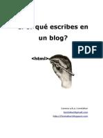 Por que escribes un blog