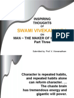 Inspiring Thoughts of Swami Vivekananda on Man the Maker of His Destiny - Part 3
