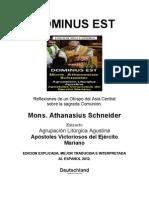 DOMINUS EST - Eminente Mons. Athanasius Schneider - Bendita Comunión.
