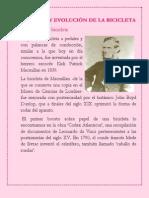 HISTORIA Y EVOLUCIÓN DE LA BICICLETA