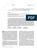 Prophylactic correction of the international normalized ratio