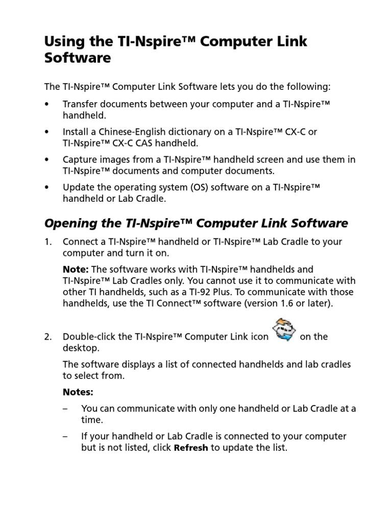 TI-Nspire ComputerLink Guidebook En   Computer File (28 views)