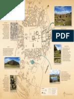 Infografía de las estructuras en Huánuco Pampa