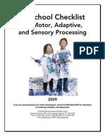 PS CHECKLIST for Motor, Adaptive & Sensory