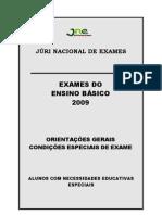 Exames Nacionais EB 2009 Alunos NEE