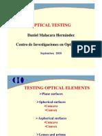 Daniel Malacara Optical Testing