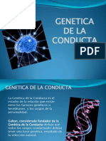 Genetica de La Conducta