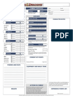 D&D Character Record Sheet
