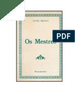 Annie Besant - Os Mestres (Rev)