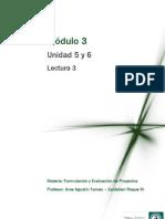Lectura 3 - Análisis Económico y Financiero del Proyecto