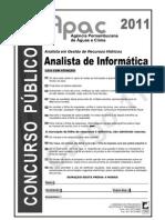 Prova - APAC - An. Informatica - 2011