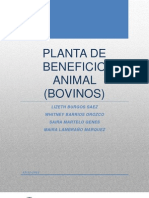 Planta de Beneficio Animal Listo