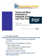 Tools and Best Practices to Integrate Content Into Your Portal