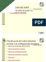 clasificación del robot) -Mecanica