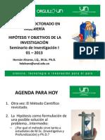 Charla Hipotesis y Objetivos HAlvarez
