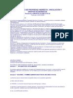 Reglamento de propiedad indirecta, vinculación y grupos económicos