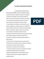 Estudo sobre manutenção industrial(SOFTWARE)