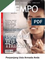 Tempo Edisi Khusus Wiji Thukul+Kumpulan Puisi Para Jenderal Marah-Marah