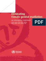 Interagency Statement on Eliminating FGM