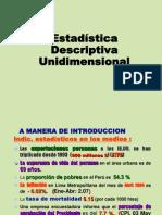 INEI Estadistica Unidimensional