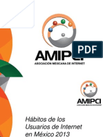 AMIPCI Estudio Habitos Internet 2013