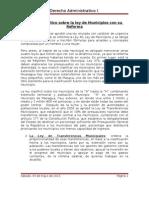 Análisis político sobre la ley de Municipios con su reforma