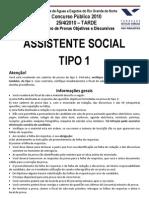Fgv 2010 Caern Assistente Social Prova