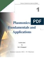 Plasmonics Chapter 1