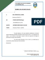INFORME Nº   CBR-UPLA