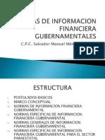Normas de Información Financiera Gubernamental
