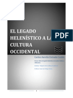 El Legado Helenístico a la Cultura Occidental