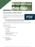 Library Kata Folder Stats