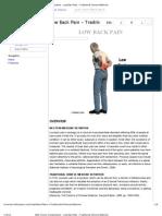 Low Back Pain - TCM