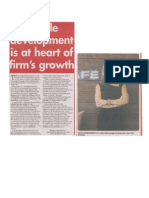 People's development is at the heart of the firms growth