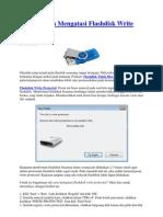 Cara Mudah Mengatasi Flashdisk Write Protected