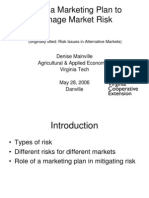 Using a Marketing Plan to Manage Market Risk