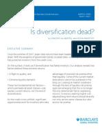 Is Diversification Dead