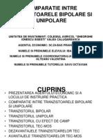 Comparatie Intre Tranzistoarele Bipolare Si Unipolare