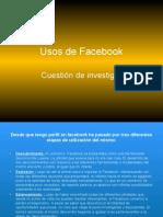 Usos de Facebook 1