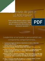 Diferentele de Gen in LEADERSHIP