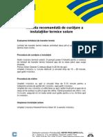 Procedura 4 - Procedura Fernox de Curatare Panouri Solare