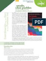 """Boletín Monográfico 7:""""Un estado, muchos pueblos"""" CODPI Octubre 2012"""