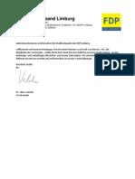 Anschrift FDP Stadtverband Limburg Website