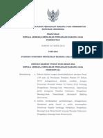 Peraturan Kepala LKPP Nomor 15 Tahun 2012 Tentang Standar Dokumen Pengadaan Barang Dan Jasa